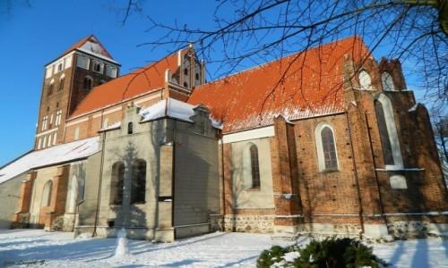 POLSKA / woj.warmińsko-mazurskie. / pow. nowomiejski. / Nowe Miasto Lubawskie - kościół p..w.św.Tomasza Apostoła.