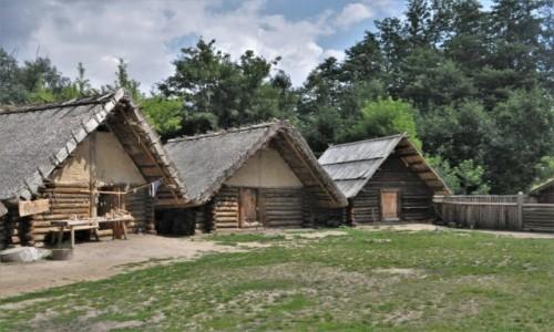 Zdjecie POLSKA / Kujawsko Pomorskie / Biskupin / Biskupin, rekonstrukcja grodu
