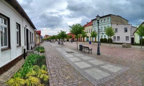 POLSKA / pomorskie / Łeba / Ulica Kościuszki w Łebie