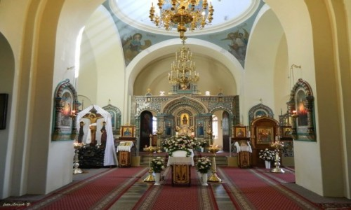 Zdjęcie POLSKA / woj.podlaskie. / Białowieża. / Białowieża - cerkiew św. Mikołaja 4 - wnętrze.