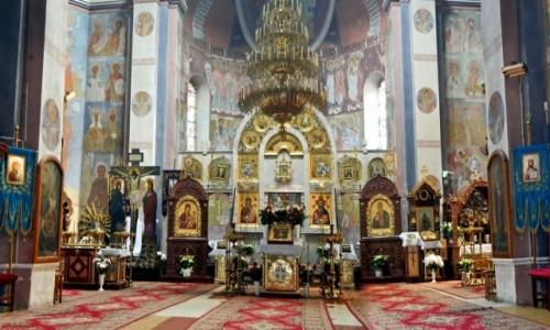 Zdjęcie POLSKA / woj.podlaskie. / pow.białostocki. / Gródek - Cerkiew  Narodzenia Najświętszej Maryi Panny - wnętrze.