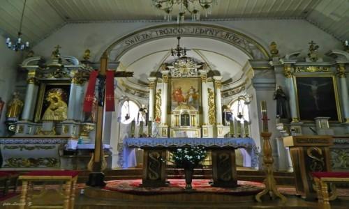 Zdjęcie POLSKA / woj.podlaskie. / pow.białostocki. / Supraśl - kościół św. Trójcy - ołtarz główny.