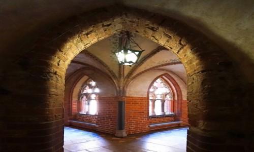 POLSKA / Malbork / Gotycki zamek krzyżacki / Latarenka