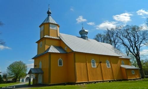 Zdjęcie POLSKA / woj.podlaskie. / pow. hajnowski. / Nowoberezowo - cerkiew filialna pw.św. Jana Teologa.