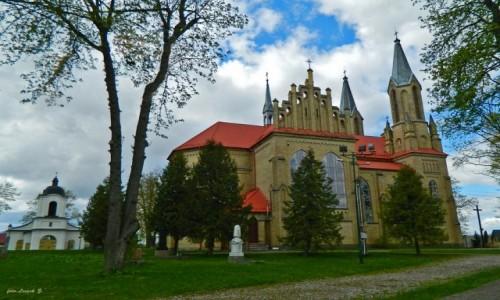 POLSKA / woj.podlaskie. / pow.sokólski. / Krynki - kościół św. Anny.