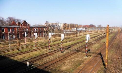 Zdjecie POLSKA / Wielkopolska / Nowe Skalmierzyce / Skalmierzyce  ,  Dworzec  kolejowy .
