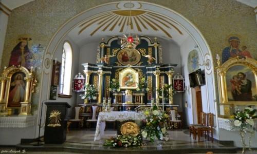 Zdjecie POLSKA / woj.podkarpackie. / Polańczyk. / Polańczyk - Sanktuarium Matki Bożej Pięknej Miłości - ołtarz.