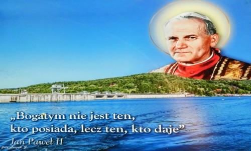 Zdjecie POLSKA / woj.podkarpackie. / Sanktuarium Matki Bożej Pięknej Miłości. / Polańczyk - sentensje na ścieżce do cudownego źródełka.