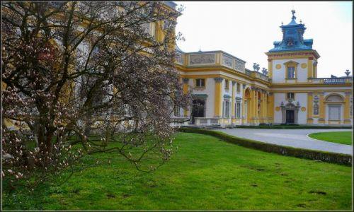 Zdjęcie POLSKA / Mazowszwe / Wilanów / fragment palacu w Wilanowie