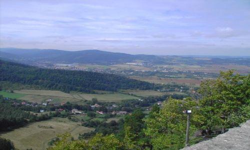 Zdjecie POLSKA / Dolny Śląsk / Jelenia Góra -Sobieszów / Widok z zamku Chojnik