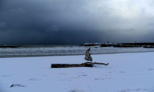 Zdjęcie POLSKA / brak / Ustka / Zimowa plaża