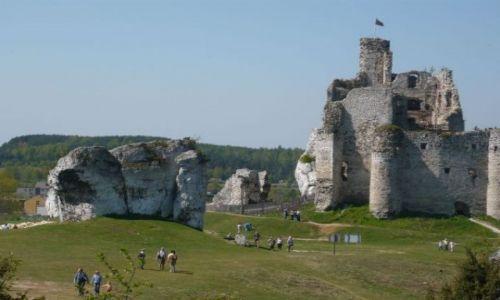 Zdjecie POLSKA / jura krakowsko-częstochowska / wieś Mirów / ruiny zamku w Mirowie
