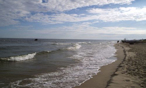 Zdjecie POLSKA / nad Bałtykiem / Krynica Morska / poranek na plaży