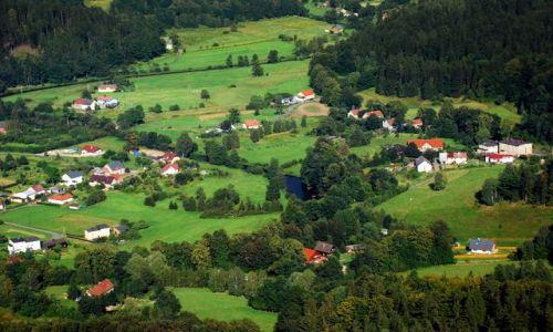 Zdjecie POLSKA / Dolny Śląsk / Góry Sokole, Sokolik / Panorama z Sokolika dla Qmoszki 2
