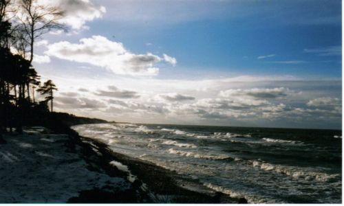 Zdjęcie POLSKA / Ustka / nad morzem / cisza przed burzą....; sztormowa pogoda...