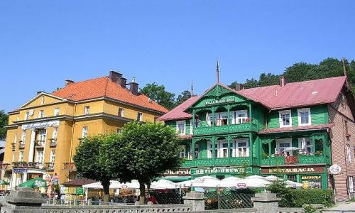 Zdjecie POLSKA / małopolska / Krynica Górska / kolory