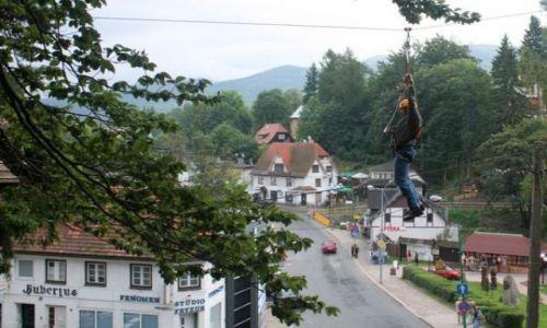 Zdjęcie POLSKA / Karkonosze / SZKLARSKA POREBA / Park linowy