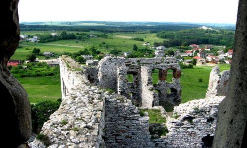Zdjęcie POLSKA / Jura Krakowsko-Częstochowska / Ogrodzieniec / Szlak Orlich Gniazd - widok z zameku