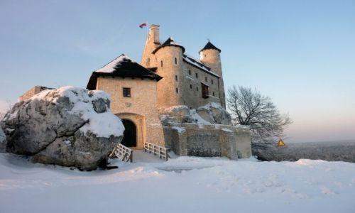 Zdjęcie POLSKA / Jura Krakowsko-Częstochowska / Bobolice / Zamek Bobolice zimą