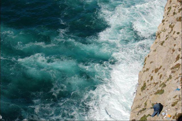 Zdjęcia: Sagres, Algarve, Wędkowanie w kipieli, PORTUGALIA