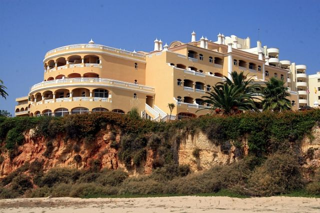 Zdjęcia: praia de rocha, algarve, hotel na urwisku, PORTUGALIA