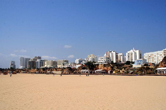 Zdj�cia: praia de rocha, algarve, promenada, PORTUGALIA