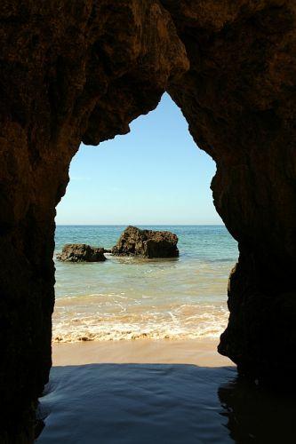 Zdjęcia: praia de rocha, algarve, widok przez.., PORTUGALIA