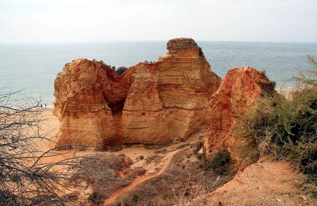 Zdjęcia: praia de rocha, algarve, skałki na plazy, PORTUGALIA