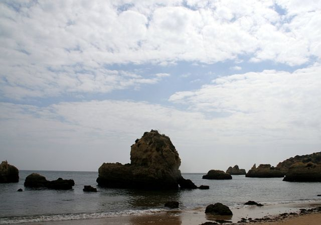 Zdjęcia: praia de rocha, algarve, rozczochrana skała, PORTUGALIA