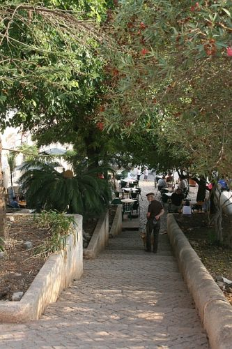 Zdj�cia: Silves, algarve, schody do kawiarni, PORTUGALIA