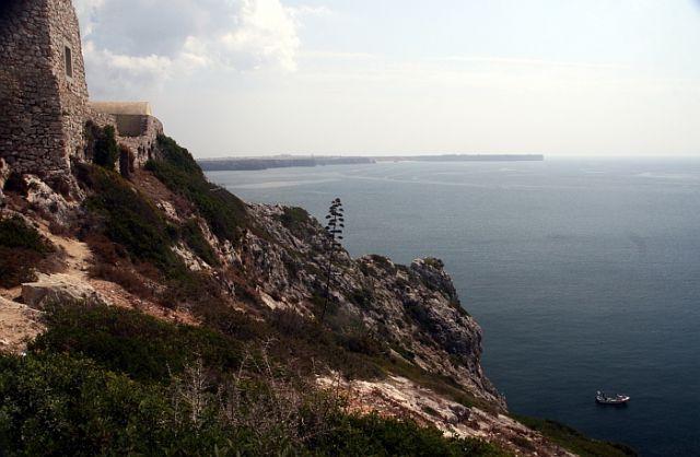 Zdjęcia: cap st Vincent, algarve, krajobraz z łódką, PORTUGALIA