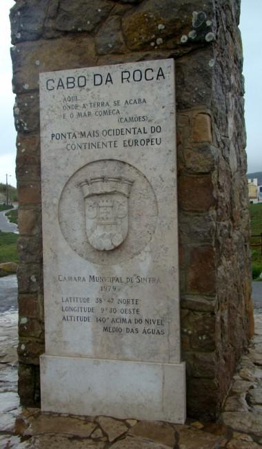 Zdjęcia: Cabo da Roca, Park Narodowy Sintra-Cascais, Obelisk, PORTUGALIA