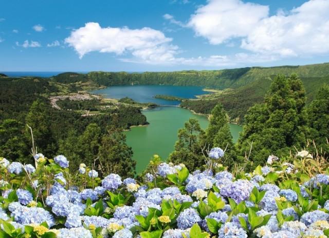 Zdjęcia: wyspa São Miguel, Azory, Jezioro Lagoa das Sete Cidades – wyspa São Miguel – Azory, PORTUGALIA
