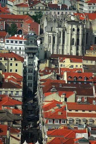 Zdjęcia: Lizbona, Winda na wyższy poziom miasta, PORTUGALIA