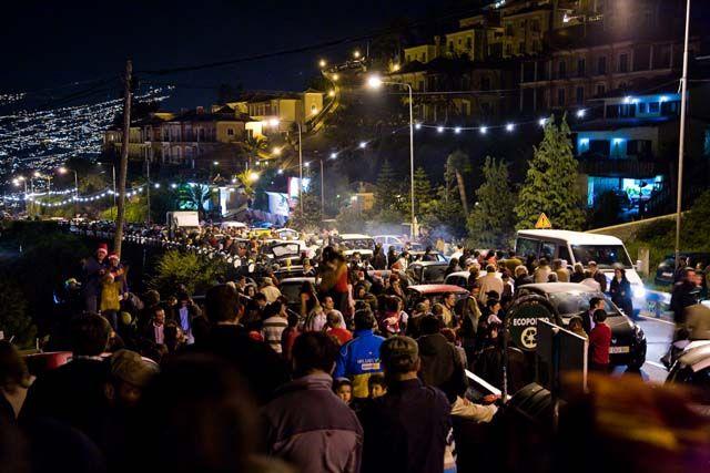 Zdjęcia: Funchal, Madera, Funchal - ulica w noc sywestrową, PORTUGALIA