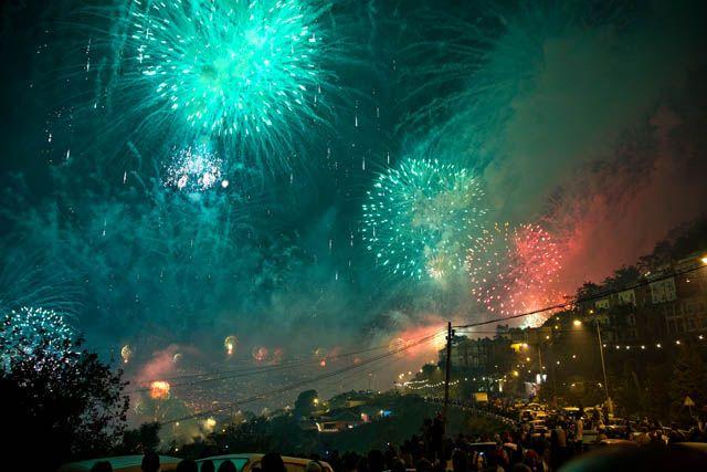 Zdj�cia: Funchal, Madera, Pokaz fajerwerk�w, PORTUGALIA