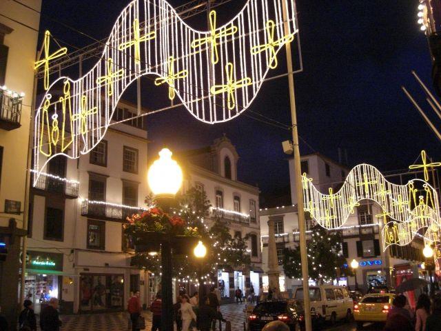 Zdjęcia: Madeira - Funchal, Centrum nocą., PORTUGALIA