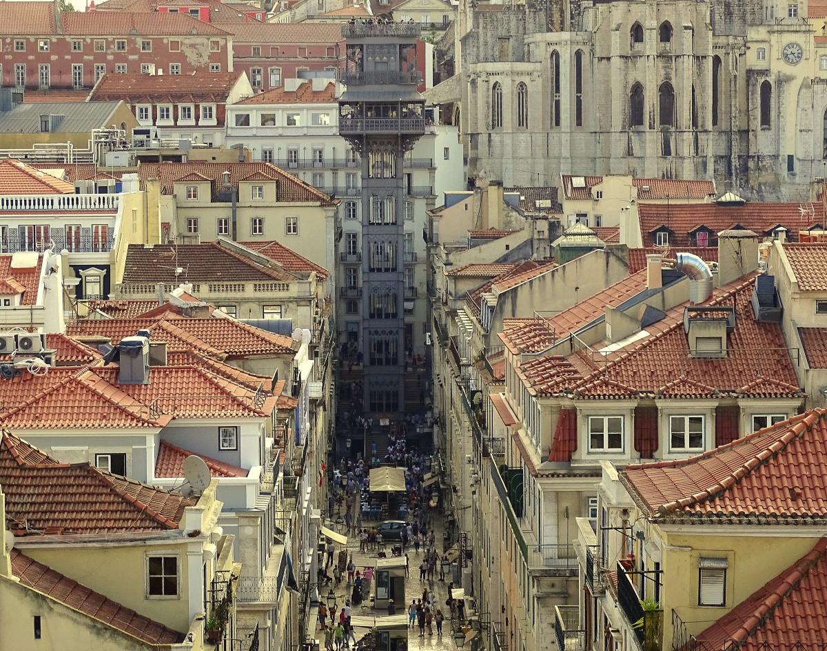 Zdjęcia: Lizbona - Baixa, dystrykt Lizbona, Elevador de Santa Justa, PORTUGALIA