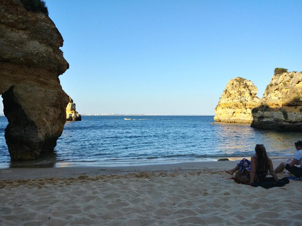 Zdjęcia: Lagos, Algarve, Praia do Camilo wieczorem, PORTUGALIA