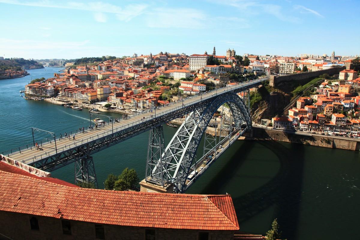 Zdjęcia: Rzeka Douro, Porto, Ponte Dom Luís I, PORTUGALIA