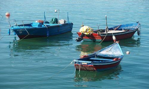 Zdjęcie PORTUGALIA / Nazare / Nazare / łodzie w porcie
