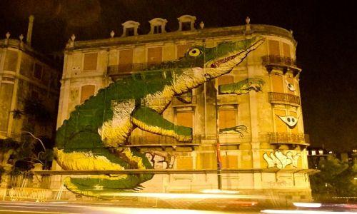 Zdjecie PORTUGALIA / Lisbona / Lisbona / mural w Lisbonie