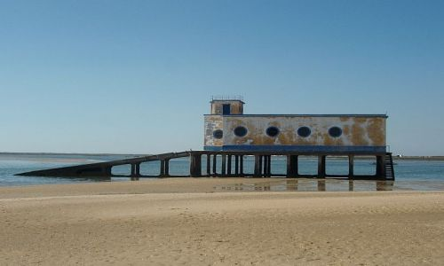 PORTUGALIA / Faro / Faro / plaża w faro