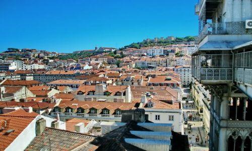 Zdjęcie PORTUGALIA / Lisabon / Lizbona / Z wieży w centrym Lizbony