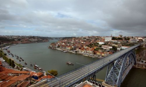 Zdjecie PORTUGALIA / - / porto / Słynny most w Porto