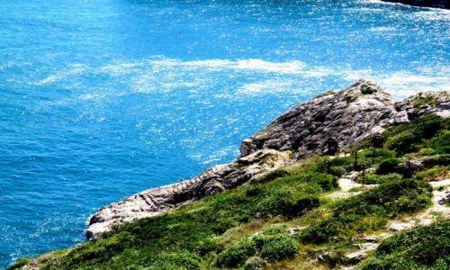 PORTUGALIA / Zachodnie Algarve / Brzeg oceanu w  poblizu Sagres / Sagres