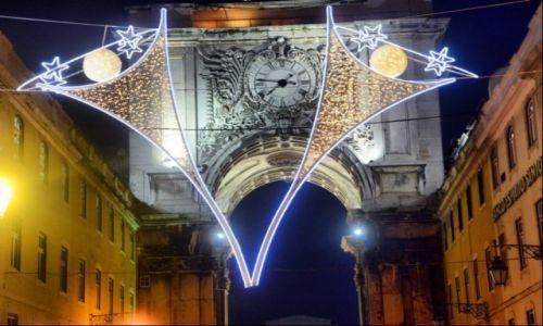 PORTUGALIA / Lisboa / Lizbona / Świąteczne oświetlenie Lizbony
