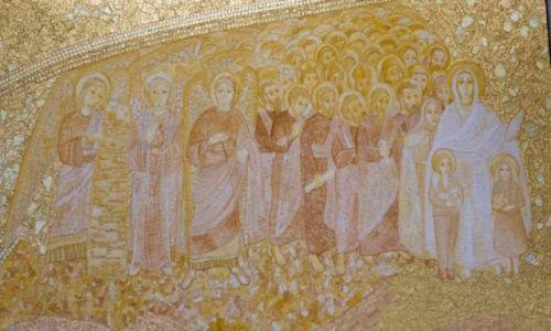 PORTUGALIA / Lisboa / Fatima / Mozaika w Bazylice Trójcy Przenajświętszej (Basílica da Santíssima Trindade)