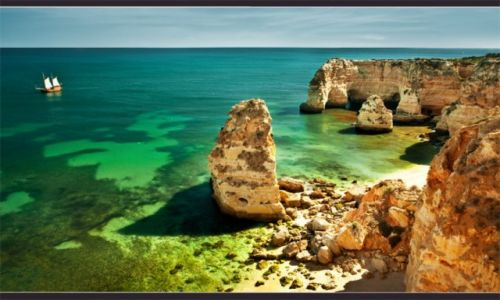 Zdjecie PORTUGALIA / Algarve / Algarve / stateczek...