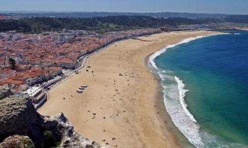 PORTUGALIA / Centrum / Nazaré / Widok z klifu